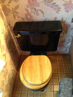 Sudden Valley, Wa old black toilet