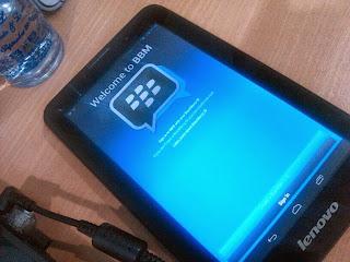 Aplikasi BBM Android untuk Tablet