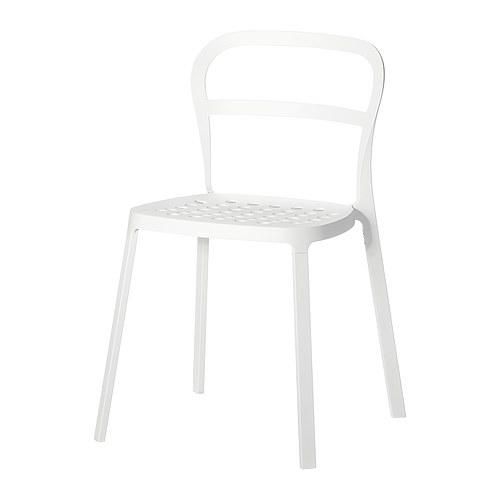 vita köksstolar : Vit stol Reidar från Ikea