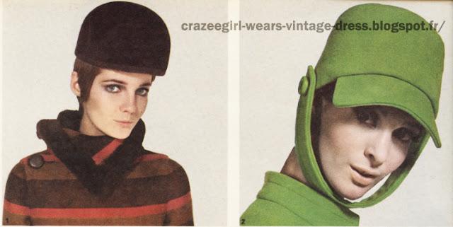 Pierre Cardin  Ted Lapidus 1966 Hat 60s 1960 mod