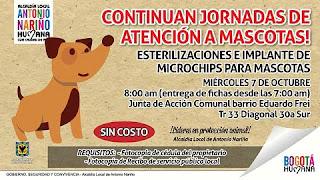 Localidad Antonio Nariño :  Jornada especial de Atención A Mascotas