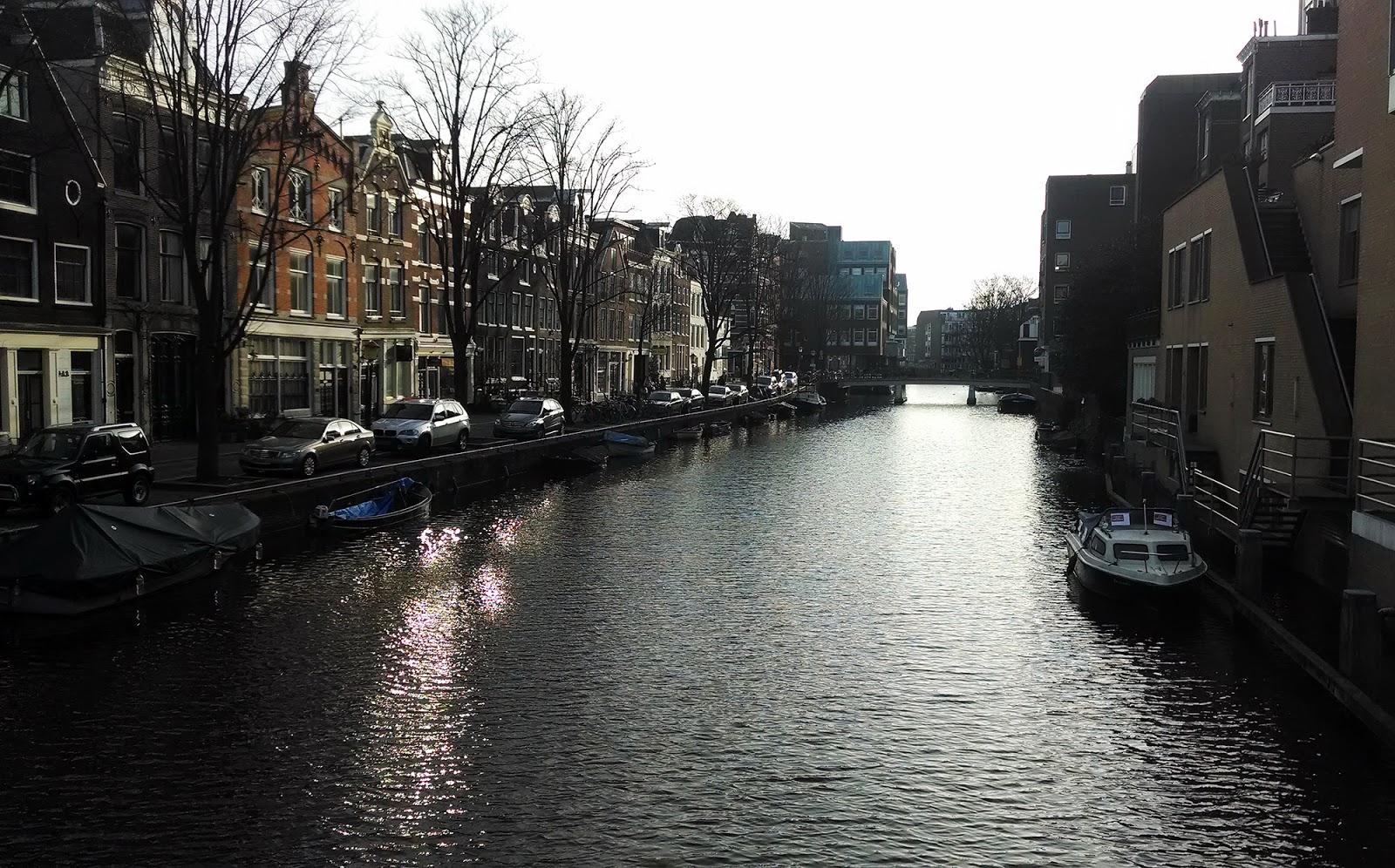 Амстердам+зима+канал
