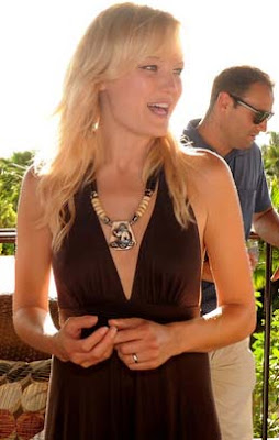 Malin Akerman Wooden Beaded Necklace