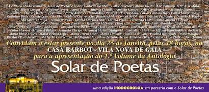 """""""Antologia Solar de Poetas – Volume I"""""""