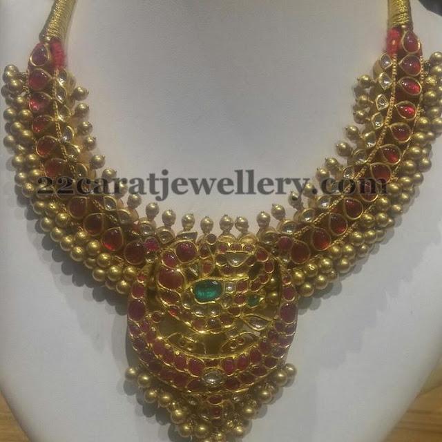 Ruby Kundan Tussi Necklace