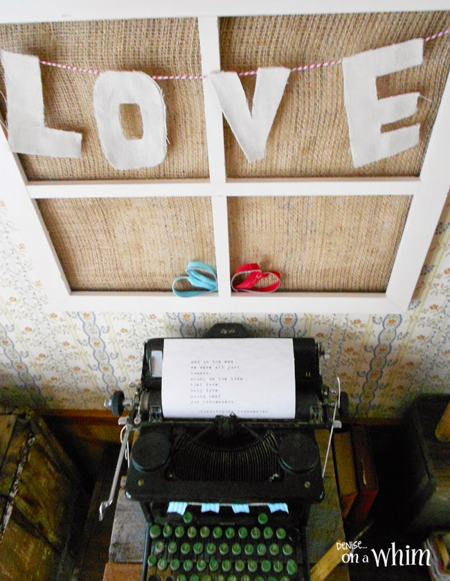DIY Love Garland and a Vintage Typewriter from Denise on a Whim