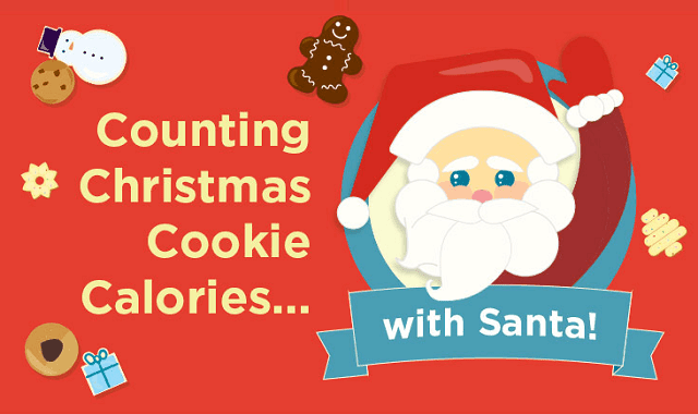 Counting Christmas Cookie Calories With Santa