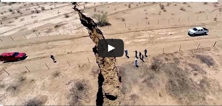 Gambar Video Rekahan Misteri 1 Kilometer Di Mexico