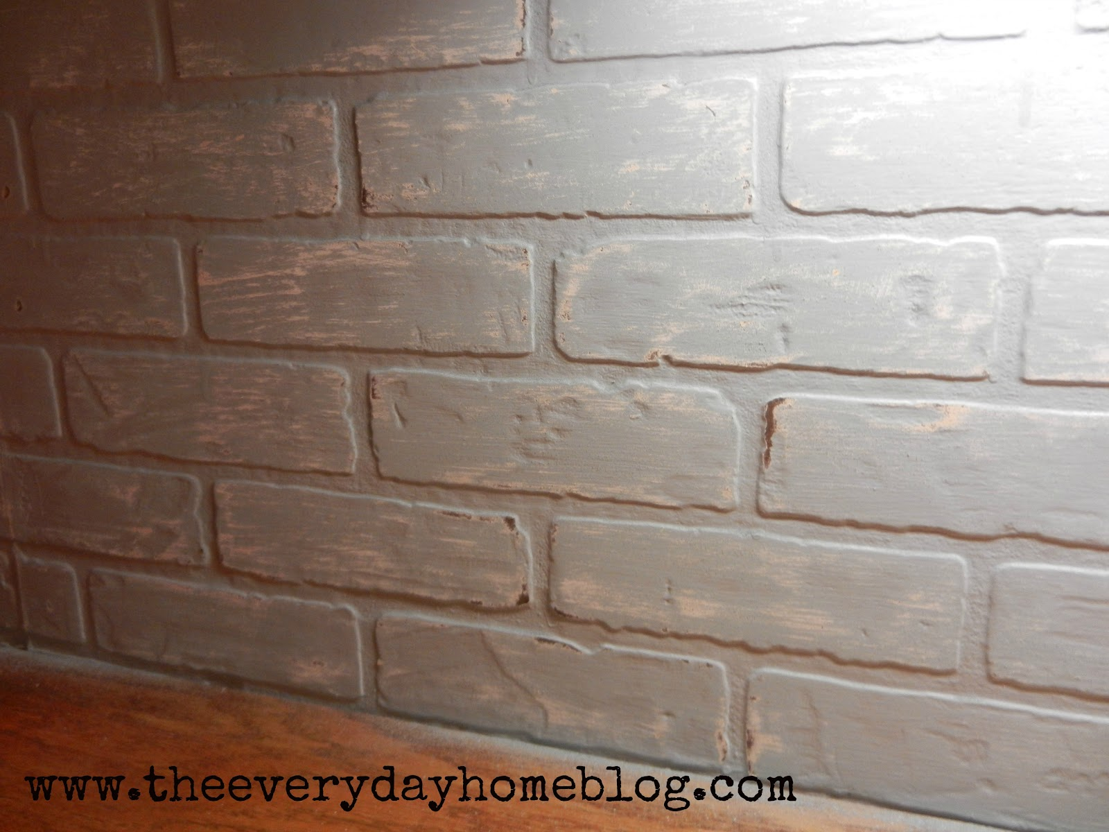 bud friendly painted brick backsplash at the everyday home