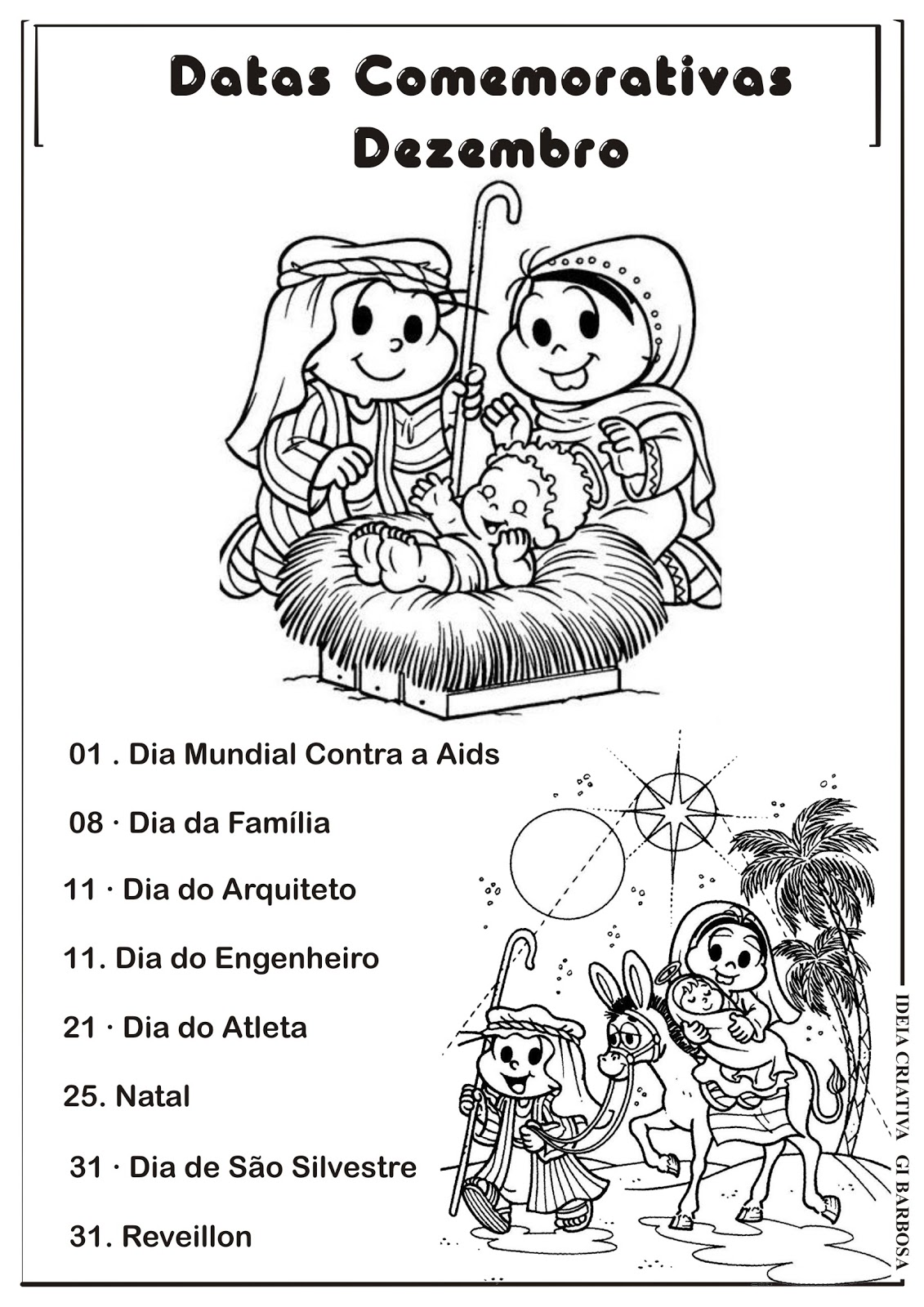 Conhecido Datas Comemorativas Dezembro | Ideia Criativa - Gi Barbosa  IV51