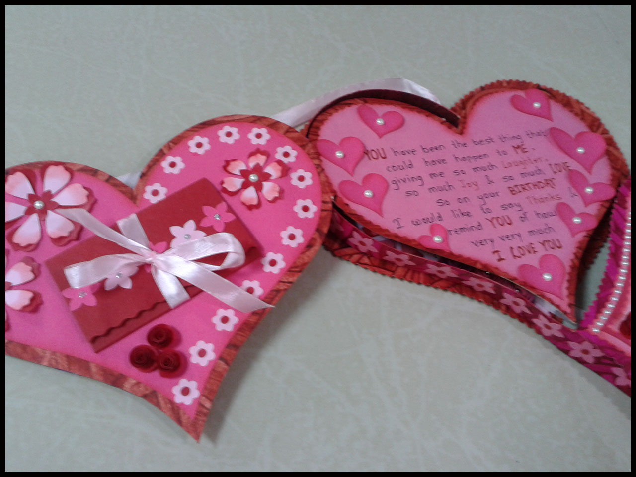 Linas Handmade Cards Romantic Birthday Card For Husband