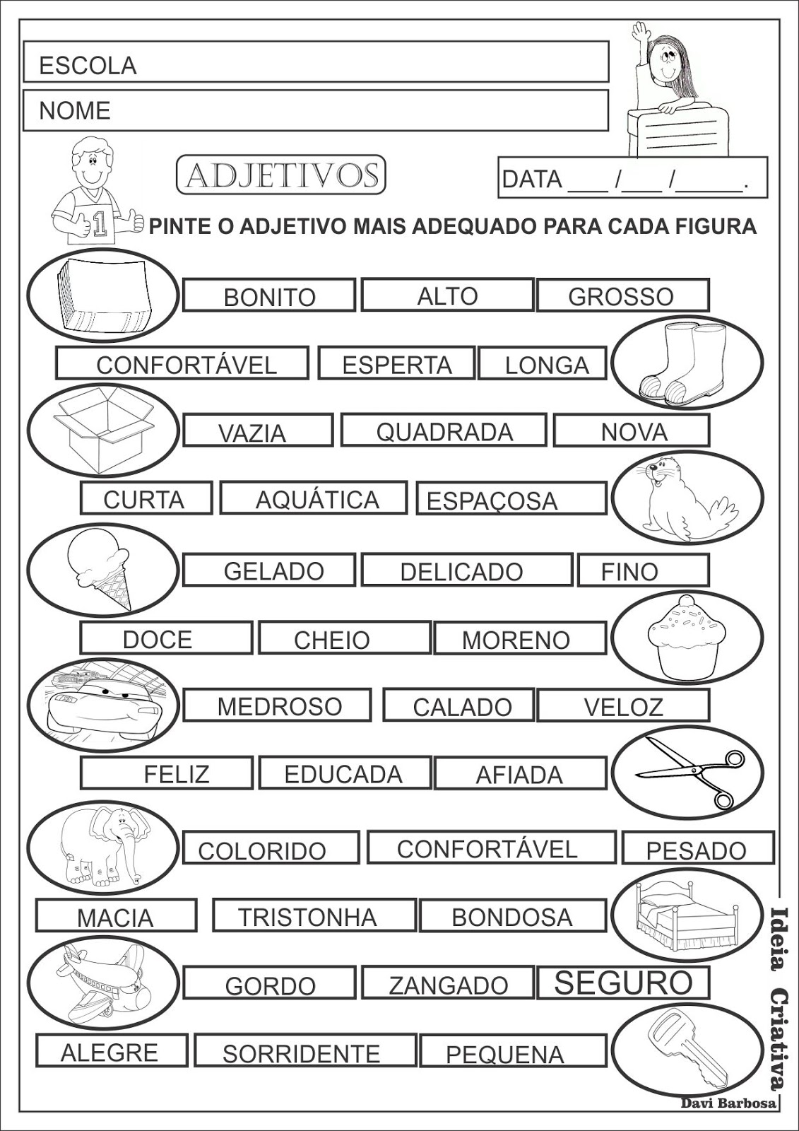 Atividade lingua portuguesa 4º ano.