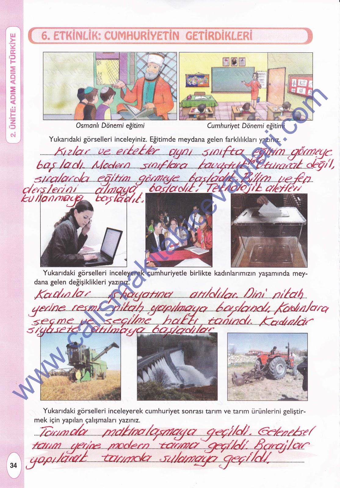 Sınıf pasifik yayınları sosyal bilgiler çalışma kitabı 34