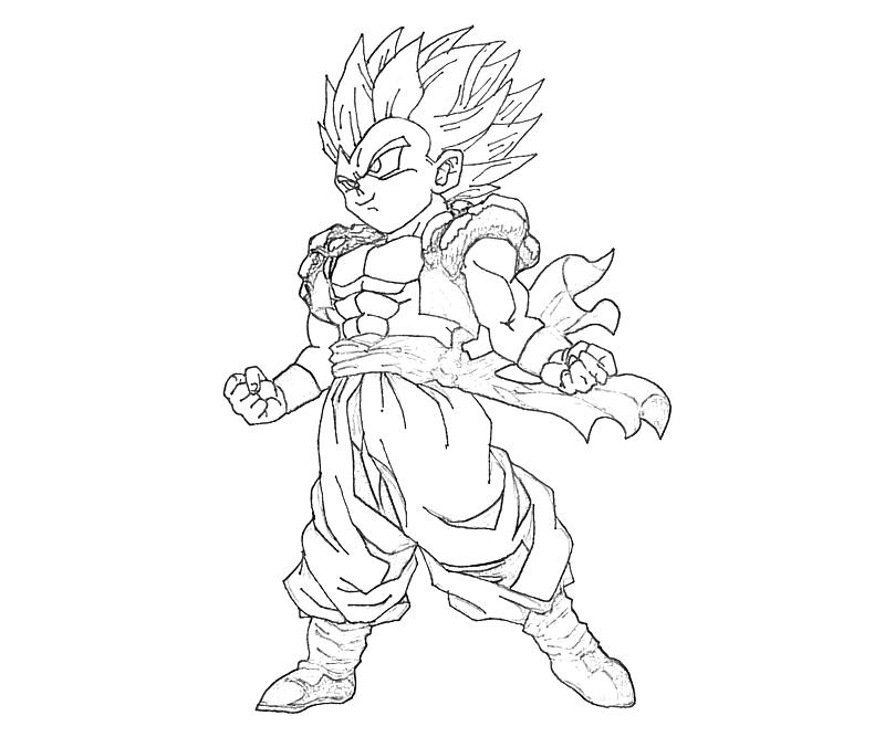Gotenks Coloring Pages The Image Kid DBZ Super Saiyan Trunks By ...