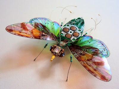 Όμορφα φτερωτά έντομα δίνουν ζωή σε άχρηστα εξαρτήματα υπολογιστών