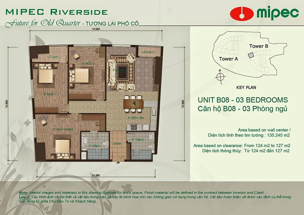 Căn B08 cư xá Mipec Riverside
