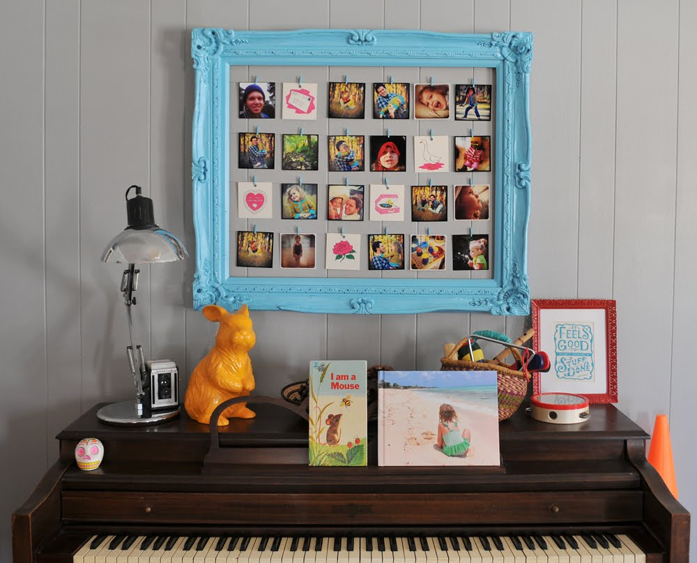 The Modern Homesteader: D.I.Y - Frame in to Photo Decoration