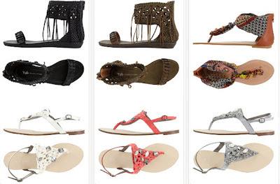 Sandalias étnicas de moda