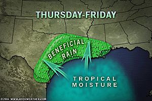 Am Wochenende endlich Regen in Texas - durch Tropischen Sturm LEE?, 2011, Hurrikansaison 2011, August, USA, Texas, Golf von Mexiko, Leeward-Inseln,  Vorhersage Forecast Prognose, Katia,
