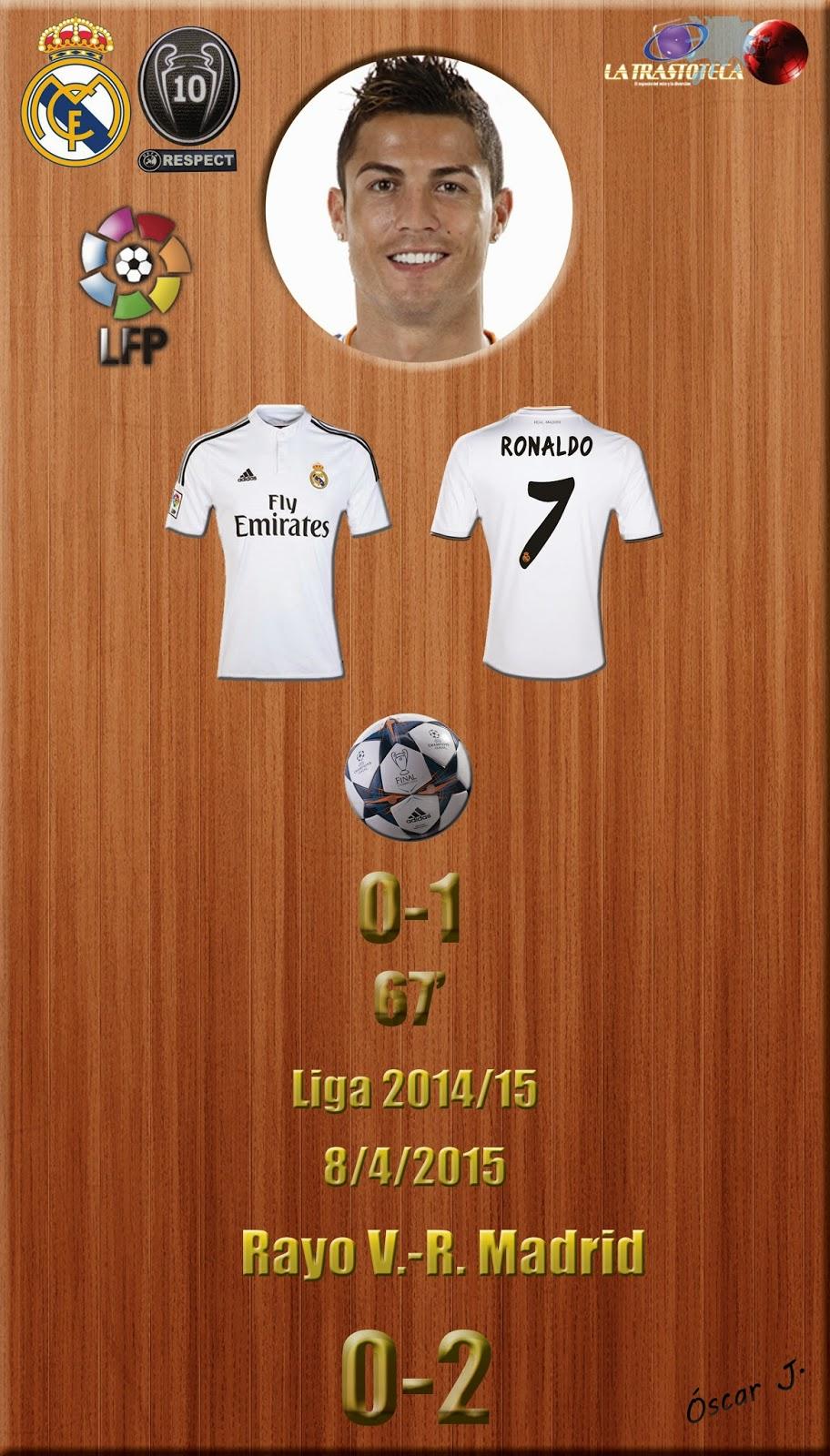 Cristiano Ronaldo (0-1) - Rayo V. 0-2 Real Madrid - Liga 2014/15 - Jornada 30 - (8/4/2015)