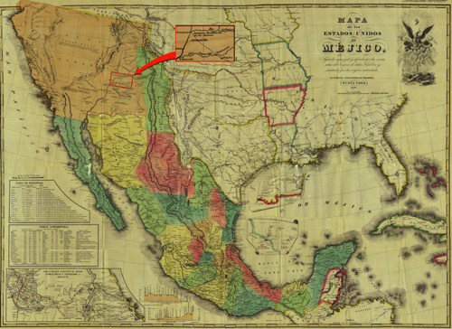 Hidden North American Archaeology And Native America Maps And - Area map of us 1845