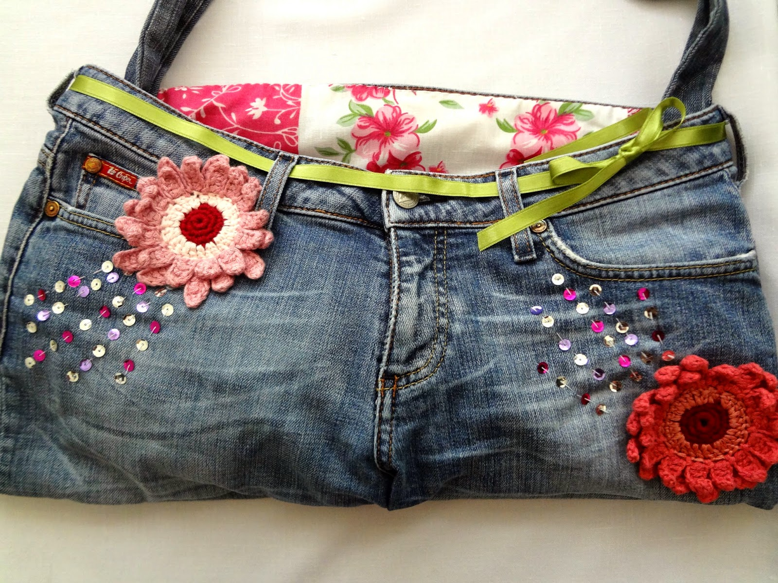 how to make a beach bag out of jeans