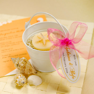 Beach Wedding Favors on You Ve Got Some Wedding Favors That Are Also Your Table Decorations
