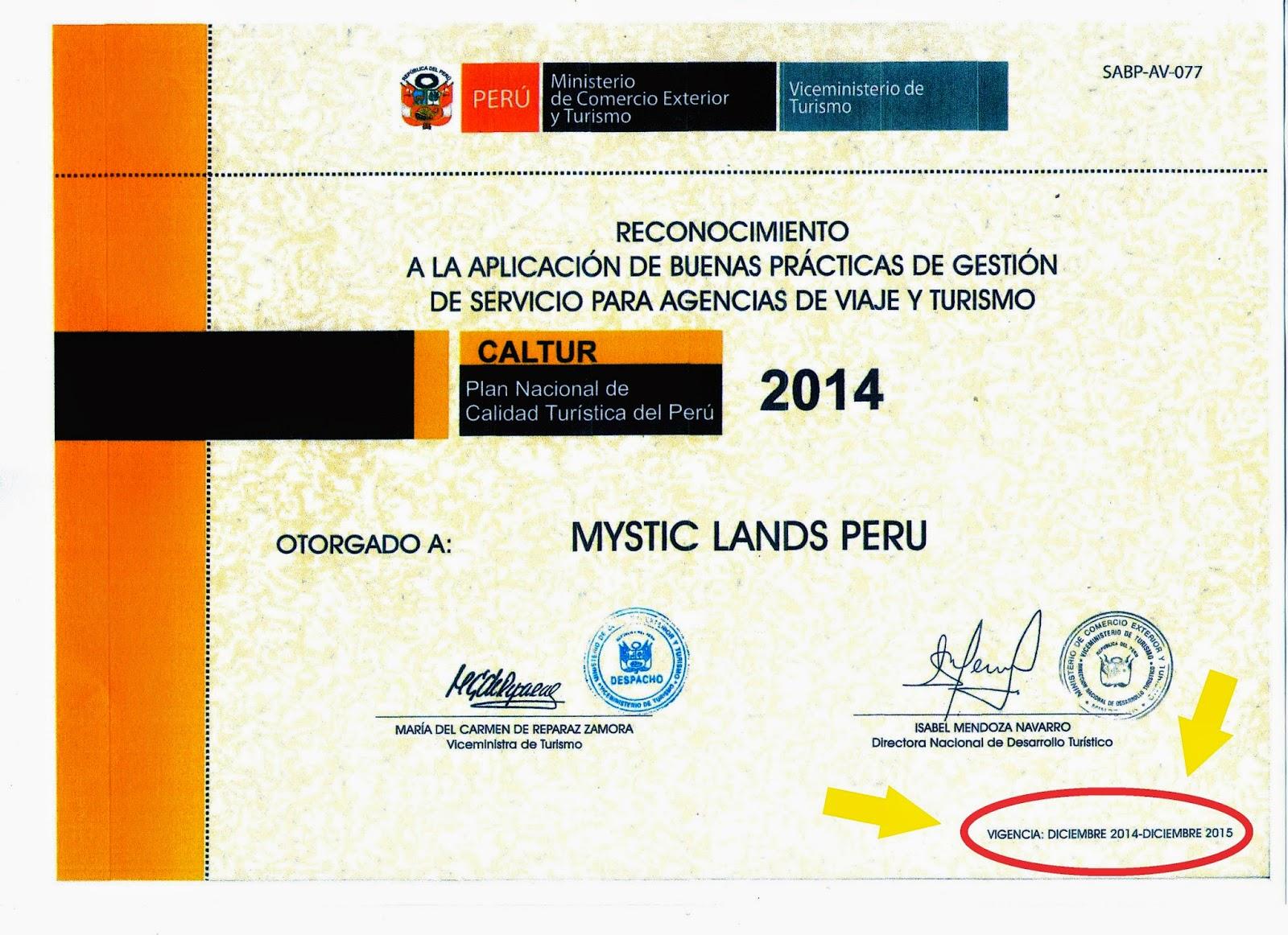 Agencia de viajes Premiada cusco 2016