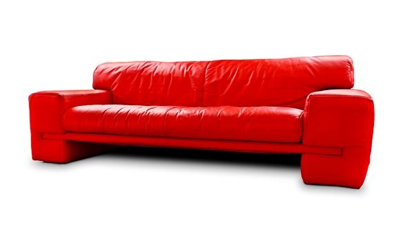 Canapea piele rosie