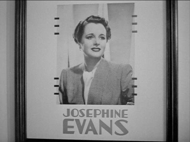 Mary Astor plays Josephine Evans and this portrait hangs in her agent's office.