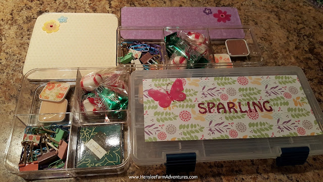 Goodies inside the smaller decorative boxes