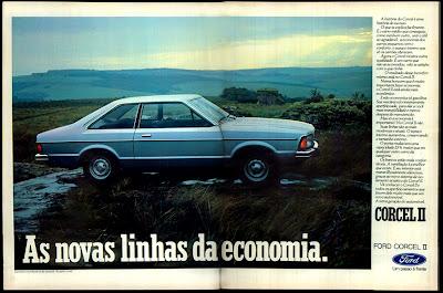 propaganda Ford Corcel II - 1977. reclame de carros anos 70. brazilian advertising cars in the 70. os anos 70. história da década de 70; Brazil in the 70s; propaganda carros anos 70; Oswaldo Hernandez;