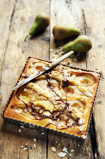Le dimanche j'ai juste envie de réconfort et de tarte aux poires amandes et chocolat !