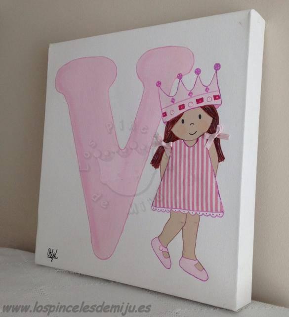 Los pinceles de miju cuadros infantiles personalizados y - Cuadros infantiles para habitacion de nina ...