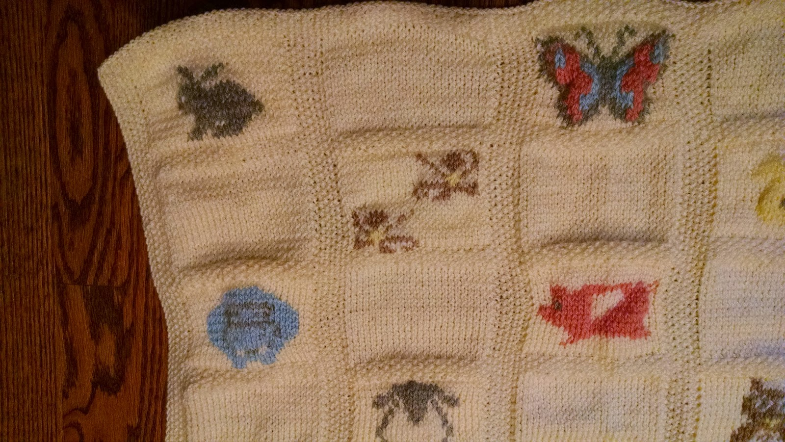 Knit A Bit, Crochet Away: Pattern: Animal Parade Baby Blanket