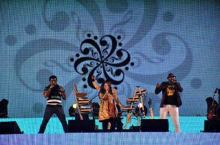 Benny Dayal with Haricharan and Shalini Singh at Harris Live concert: