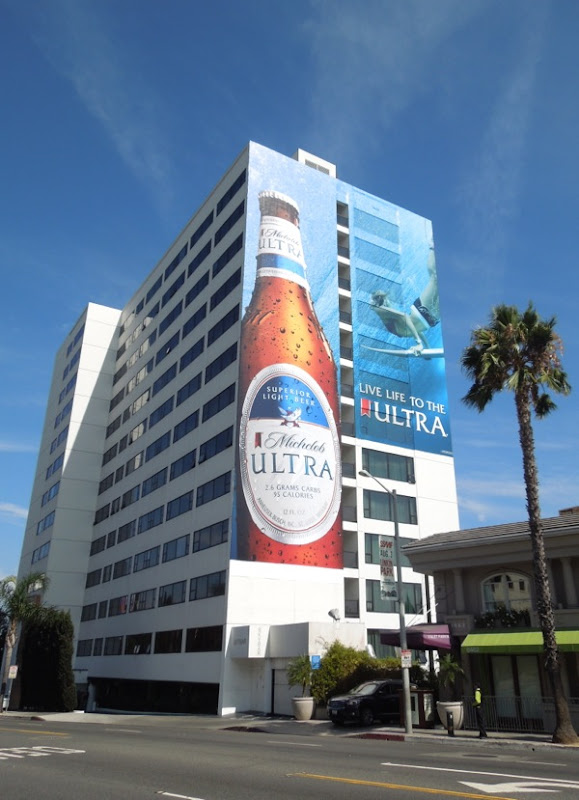 Giant Michelob Ultra surfer billboard Mondrian Hotel