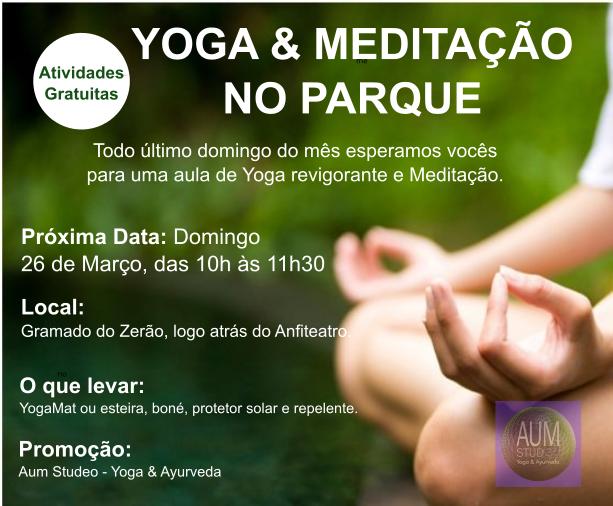 YOGA & MEDITAÇÃO NO PARQUE
