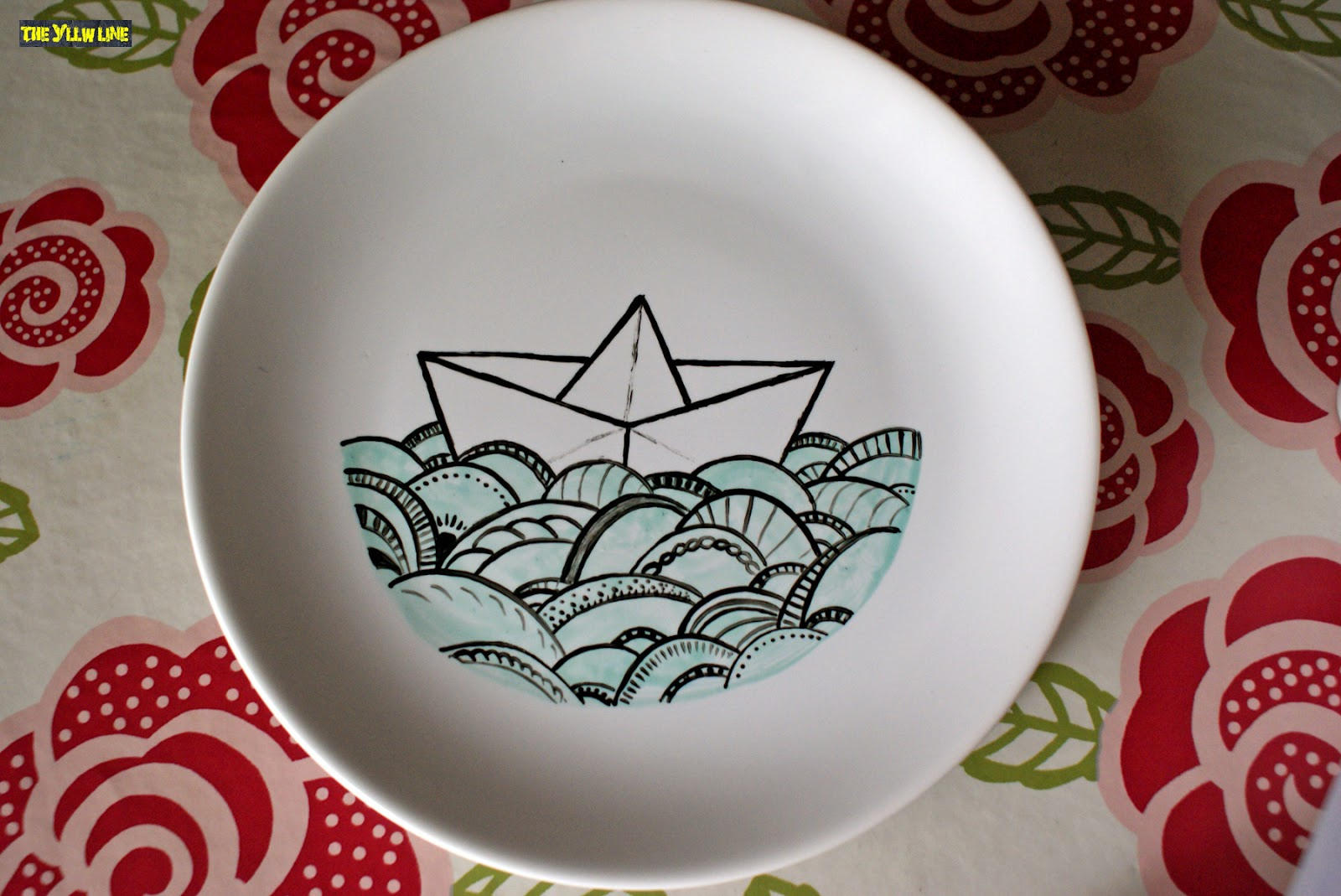 The yllw line platos pintados a mano - Platos de ceramica ...