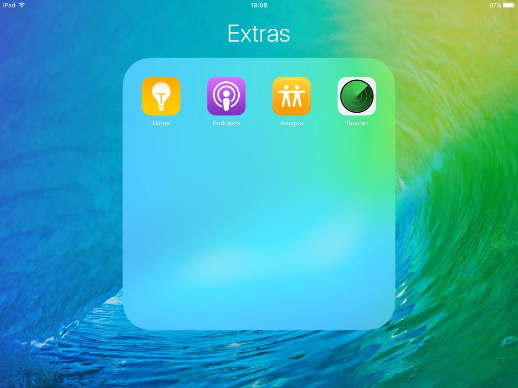 Pastas de apps no iPad - iOS 9