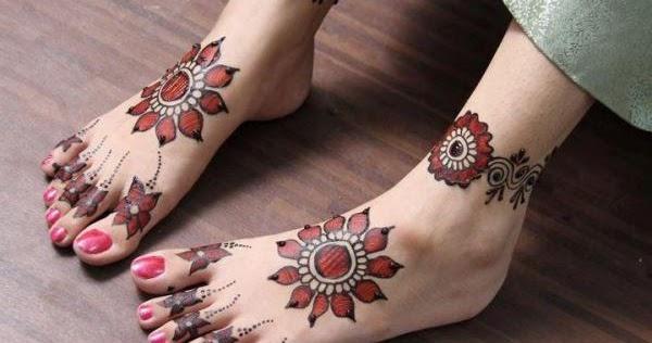 Mehndi Foot Designs 2015 : Girls latest feet mehndi designs fashionip