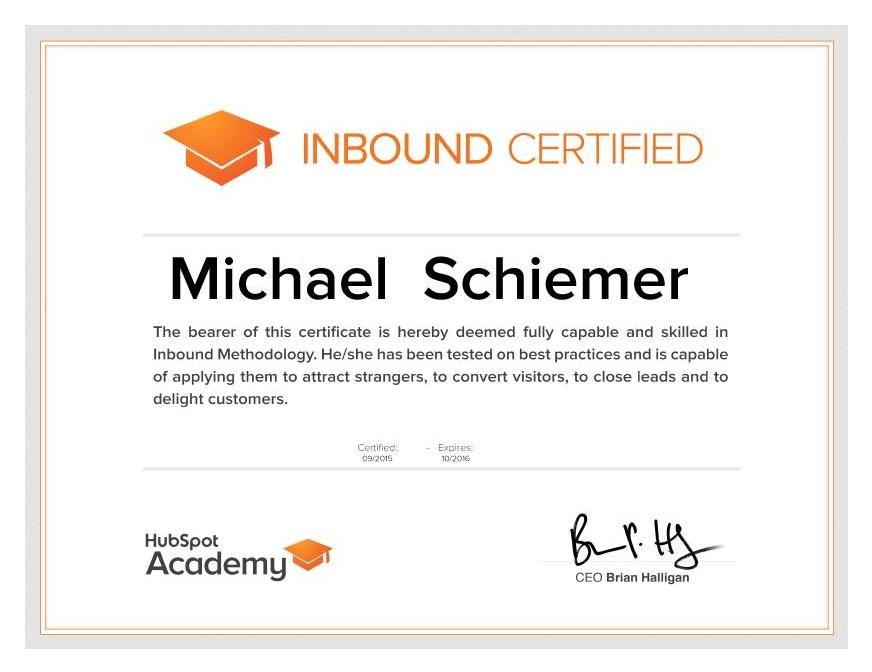 Hubspot academy inbound certification test good luck fellow inbound