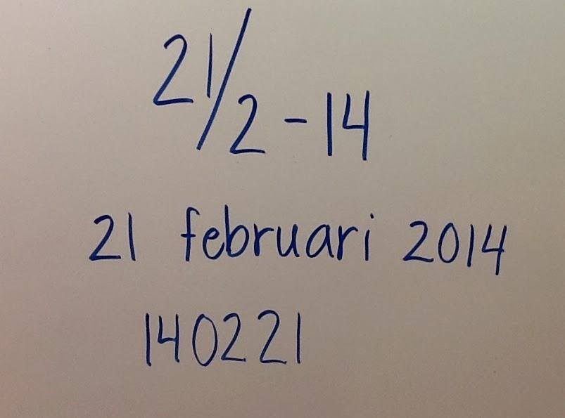 hur kan man skriva datum