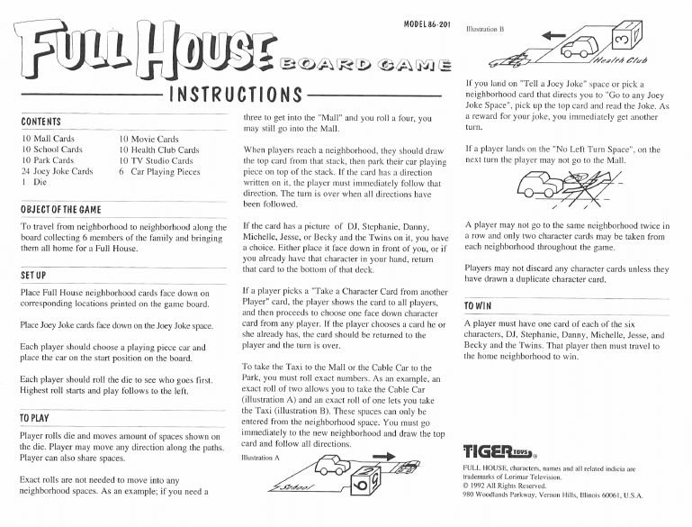 full house board game directions
