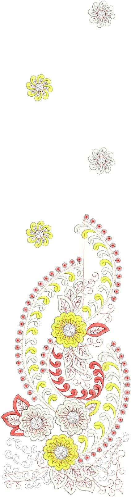 Embdesigntube fresh daman embroidery designs