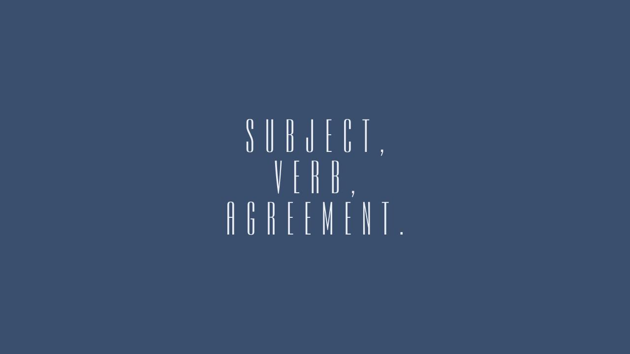 Err Subject Verb Agreement Maybe Aditya Wildan