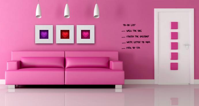Pintura para volver las paredes un pizarr n la guarida geek - Colores de pintura para paredes ...