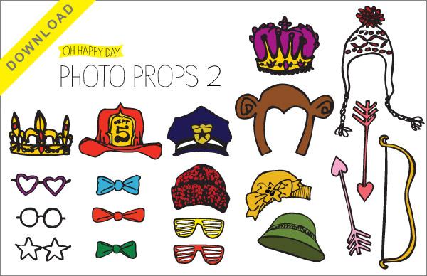 Imágenes de Coronas, Sombreros y más para Photo Booth, para Imprimir Gratis.
