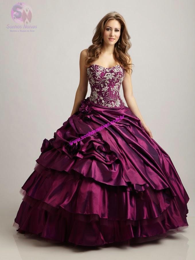 vestido princesa para festa de15 anos roxo - fotos e dicas