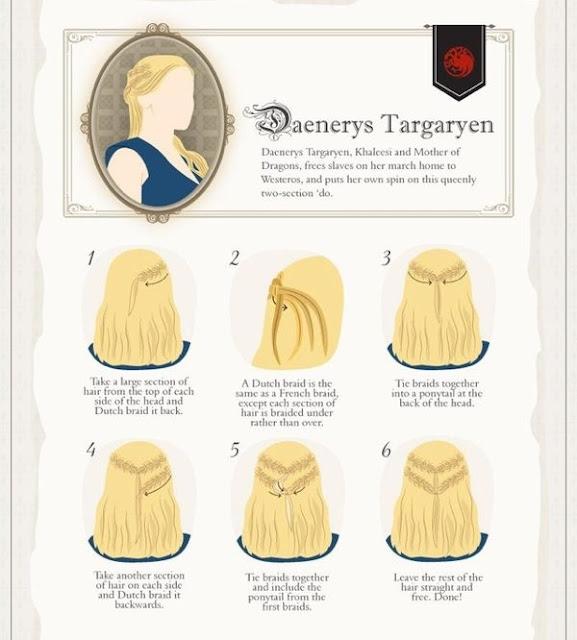 cómo hacerse el peinado de Daenerys Targaryen - Juego de Tronos en los siete reinos